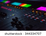 close up shot of sound mixing...   Shutterstock . vector #344334707