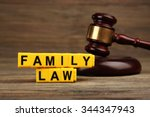 a gavel and blocks with letters ... | Shutterstock . vector #344347943