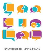 vector collection of talking ... | Shutterstock .eps vector #344354147