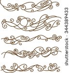 curves and waves   decorative... | Shutterstock .eps vector #344389433