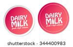 dairy milk stickers | Shutterstock .eps vector #344400983