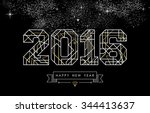 happy new year greeting card... | Shutterstock .eps vector #344413637