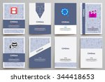corporate identity vector... | Shutterstock .eps vector #344418653