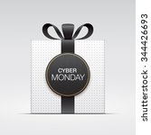 """white gift box  with """"cyber... 