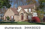 contemporary country home   Shutterstock . vector #344430323