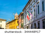 buildings in the historic... | Shutterstock . vector #344448917