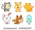 animal stickers | Shutterstock .eps vector #344462537