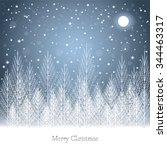 Winter Forest Under The Moon O...