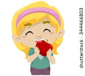 vector illustration of a little ... | Shutterstock .eps vector #344466803