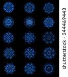 Decorative Kaleidoscopic Blue...
