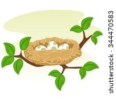 Stock Vector Of A Birds Nest...