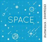 seamless vector space pattern.... | Shutterstock .eps vector #344490263