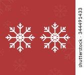 snow flake christmas vector b | Shutterstock .eps vector #344491433