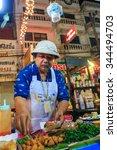 food merchants   merchants sell ... | Shutterstock . vector #344494703
