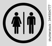 wc vector icon. style is flat... | Shutterstock .eps vector #344504777