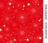 seamless pattern of beautiful... | Shutterstock .eps vector #344507663
