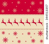 seamless border pattern with...   Shutterstock . vector #344513357