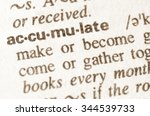 Small photo of Definition of word accumulate in dictionary