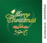 merry christmas. xmas. green....   Shutterstock .eps vector #344550563