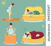 pregnant woman health. pregnant ...   Shutterstock .eps vector #344553347