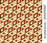 3d cubes pattern vector  | Shutterstock .eps vector #344555987