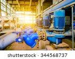 equipment inside of industrial... | Shutterstock . vector #344568737