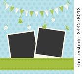 sweet baby boy announcement card | Shutterstock .eps vector #344578013