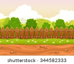 seamless cartoon country... | Shutterstock . vector #344582333