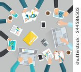business meeting flat concept... | Shutterstock .eps vector #344586503