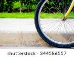 wheel of bike  | Shutterstock . vector #344586557