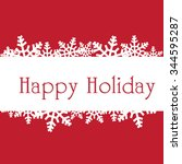 happy holidays vector... | Shutterstock .eps vector #344595287