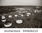 oil tank in new jersey aerial... | Shutterstock . vector #344606213