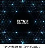abstract blue lights technology ... | Shutterstock .eps vector #344608073