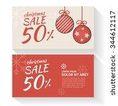 christmas sale light template... | Shutterstock .eps vector #344612117