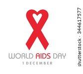 world aids day. aids awareness. ... | Shutterstock .eps vector #344617577