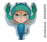 colorful cute original zodiac... | Shutterstock .eps vector #344630093