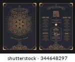 premium restaurant cafe menu ... | Shutterstock .eps vector #344648297