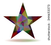 abstract lovely colored star... | Shutterstock .eps vector #344653373