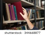a book picked or taken with a... | Shutterstock . vector #344668877