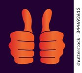 thumbs up icon | Shutterstock .eps vector #344692613