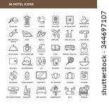 set of 36 hotel icons | Shutterstock .eps vector #344697107