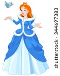 illustration of princess with... | Shutterstock .eps vector #344697383