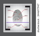 fingerprint scanner. access... | Shutterstock .eps vector #344697947