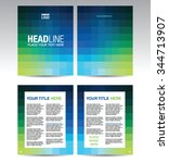brochure template design with... | Shutterstock .eps vector #344713907