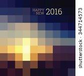 happy new year 2016  mosaic... | Shutterstock .eps vector #344714573