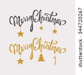 merry christmas typography... | Shutterstock .eps vector #344720267