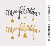 merry christmas handdrawn... | Shutterstock .eps vector #344720267