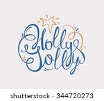 holly jolly handdrawn... | Shutterstock .eps vector #344720273