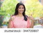 closeup portrait of young... | Shutterstock . vector #344720807