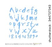 alphabet and numbers  ...   Shutterstock .eps vector #344737343